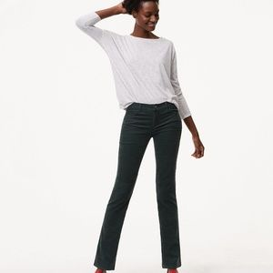 LOFT Forest Green Corduroy Pants straight Legs